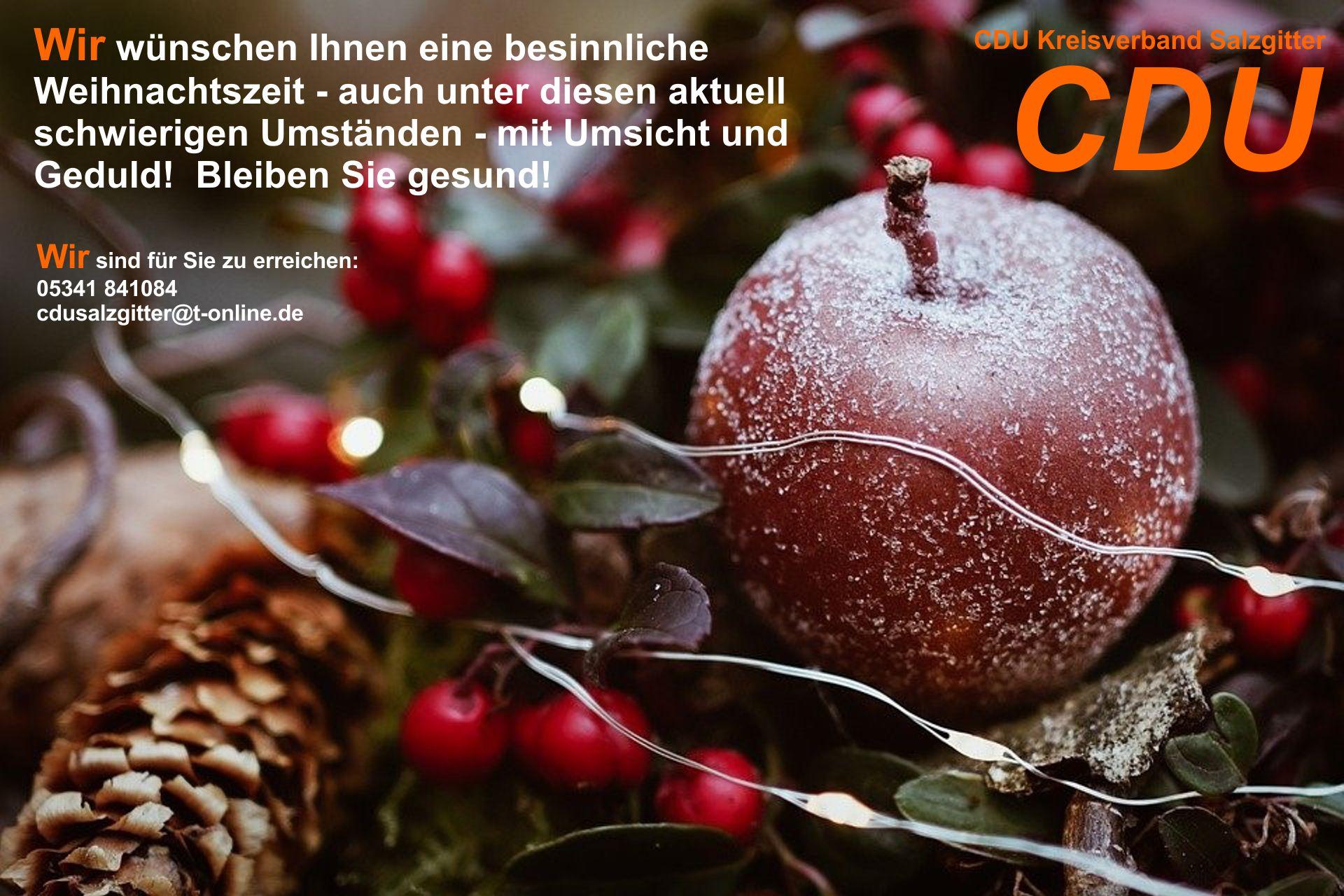 Weihnachtsgruß des CDU Kreisverbandes Salzgitter